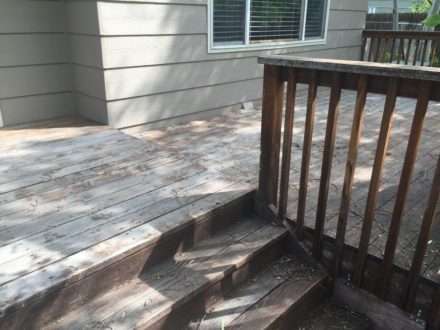 weathered deck no stain left